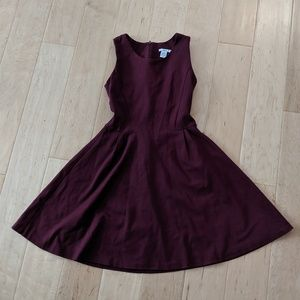 Bar III burgundy skater dress